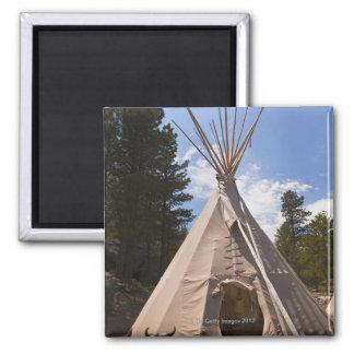 USA, South Dakota, Traditional Indian teepee Square Magnet