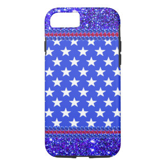 USA Sparkly Red White Blue Patriotic CricketDiane iPhone 7 Case