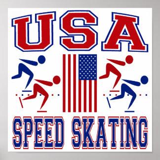 USA Speed Skating Poster