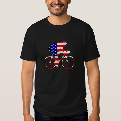USA Sports US American Cycling Cyclists Bicycle Tshirt