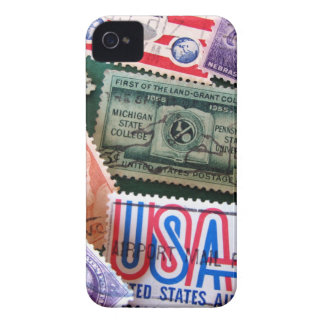 USA Stamp Collage iPhone 4 Case-Mate ID iPhone 4 Case