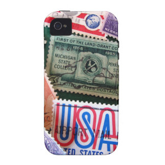 USA Stamp Collage iPhone 4 Case-Mate Tough Case For The iPhone 4