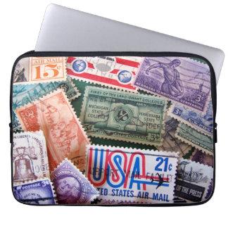 USA Stamp Collage Laptop Sleeve