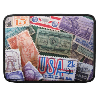 "USA Stamp Collage Macbook Pro 15"" Sleeve MacBook Pro Sleeves"