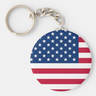 USA Star American Flag Keychain