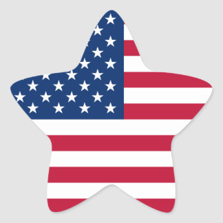 USA Star American Flag Star Sticker