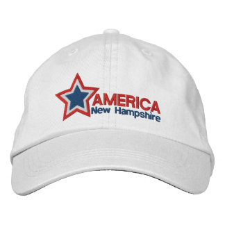 USA Star New Hampshire Embroidered Hats