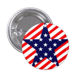 USA Star Small, 1¼ Inch Round Button