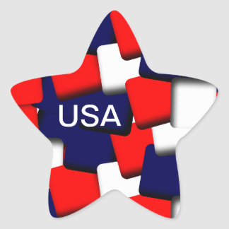 USA Star Star Stickers