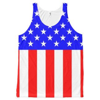 USA Stars and Stripes All-Over Print Tank Top