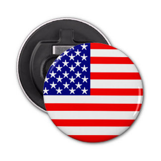 USA Stars and Stripes American Flag Bottle Opener