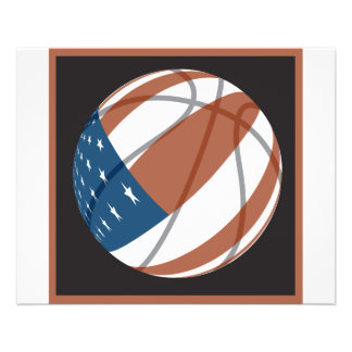 usa stars and stripes basketball 11.5 cm x 14 cm flyer