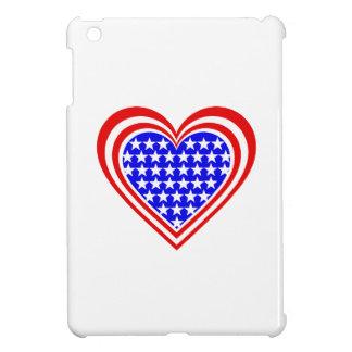 USA/Stars and Stripes flag-inspired Hearts iPad Mini Cover