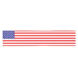 USA Stars and Stripes Flag Short Table Runner