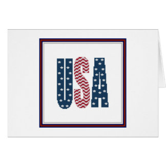USA Stars and Stripes Notecard Note Card