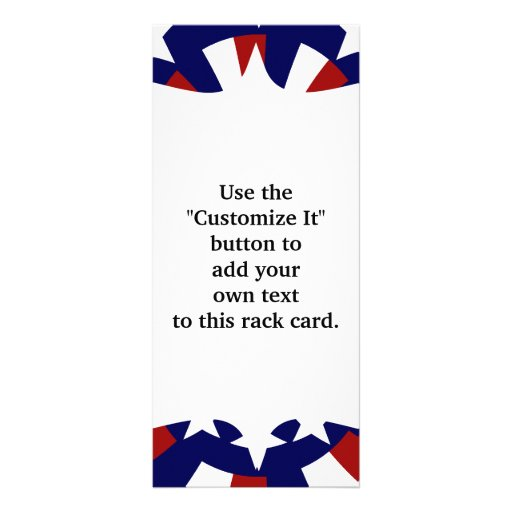 USA Stars and Stripes Patriotic Design Personalized Rack Card