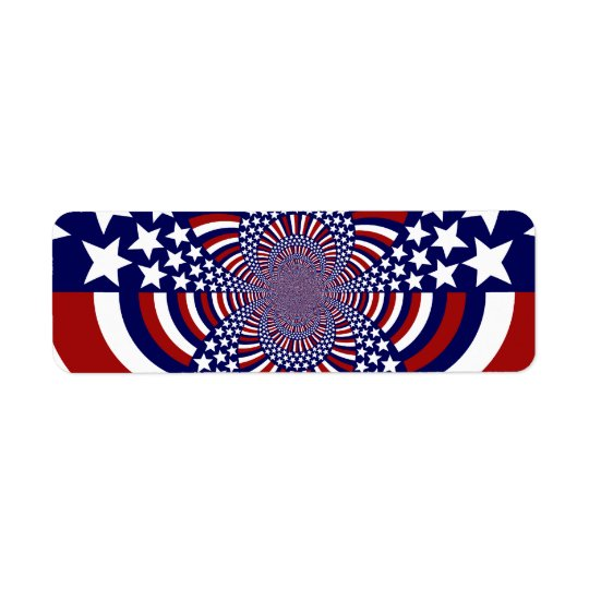 USA Stars and Stripes Patriotic Design Return Address Label