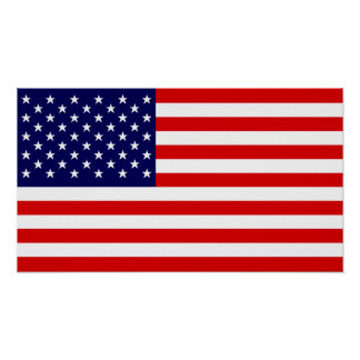 USA Stars and Stripes Poster