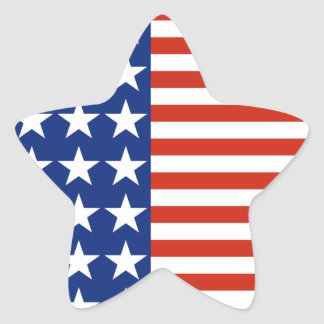 USA Stars And Stripes Star Flag Star Sticker