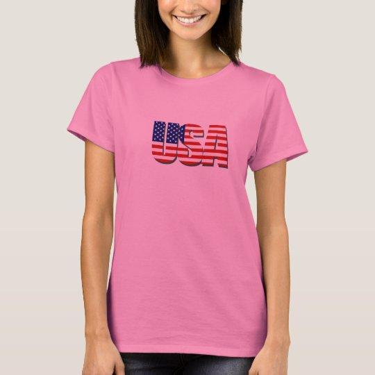 USA Stars and Stripes T Shirt