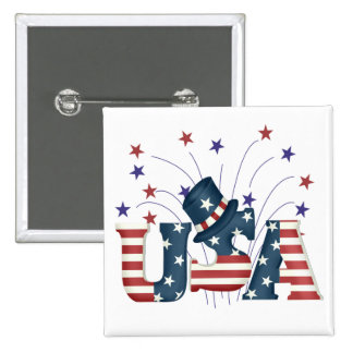 USA Stars and Stripes T-shirts and Gifts Pinback Button