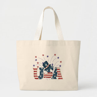 USA Stars and Stripes T-shirts and Gifts Large Tote Bag