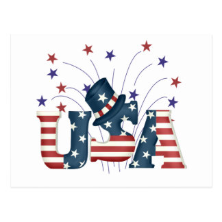USA Stars and Stripes T-shirts and Gifts Postcard