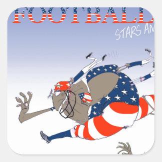 USA stars and stripes, tony fernandes Square Sticker