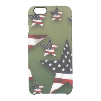 Usa stars flag clear iPhone 6/6S case