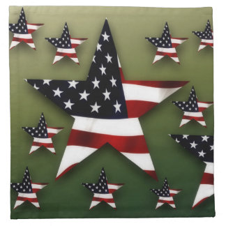 Usa stars flag decoration napkin