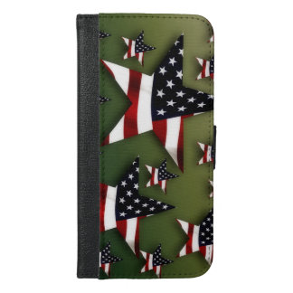 Usa stars flag iPhone 6/6s plus wallet case