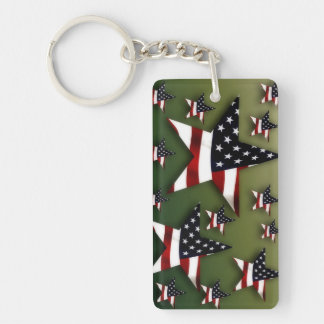Usa stars flag key ring