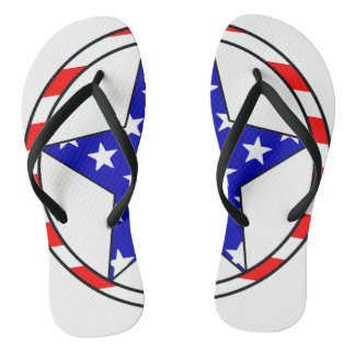 USA Stars Flip Flops
