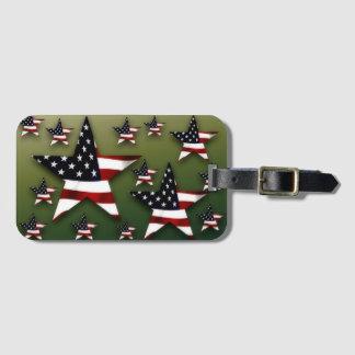 Usa stars luggage tag