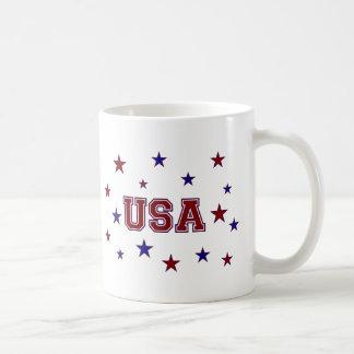 USA Stars Classic White Coffee Mug