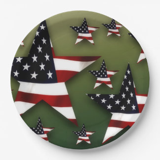 Usa stars paper plate