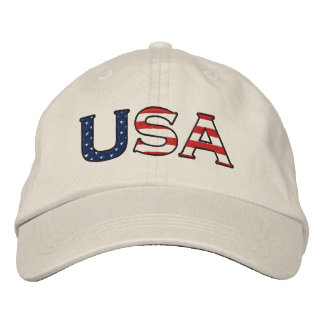 USA Stars & Stripes Embroidered Hat