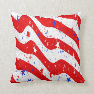 usa stars throw pillow