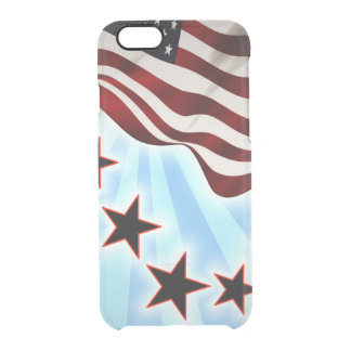 Usa stars wave flag clear iPhone 6/6S case