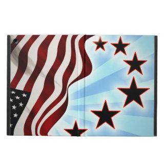 Usa stars wave flag iPad air cover