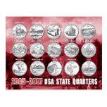 USA State Quarters (Coins) 2005 - 2007
