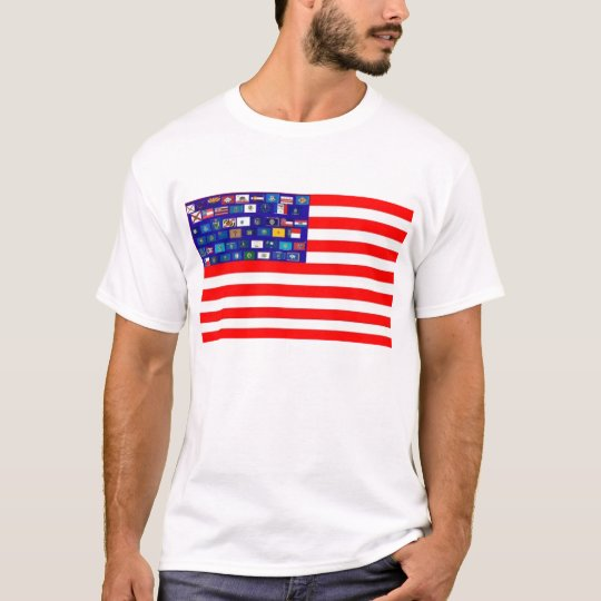 USA STATES FOR STARS TSHIRT