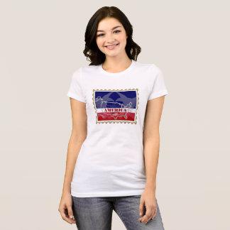 USA States Names on Stamp T-Shirt