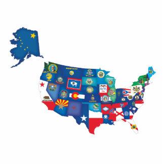 USA States Photo Cutout