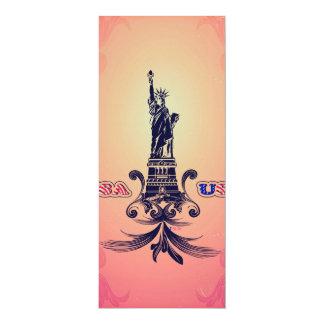 USA Statue of Liberty 10 Cm X 24 Cm Invitation Card