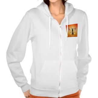 USA Statue of Liberty, flags and flowers Hooded Sweatshirts