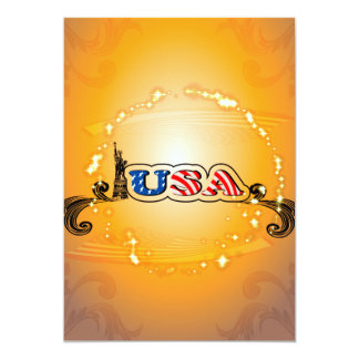 USA Statue of Liberty Personalized Announcement Cards