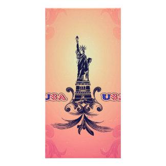 USA Statue of Liberty Photo Card Template