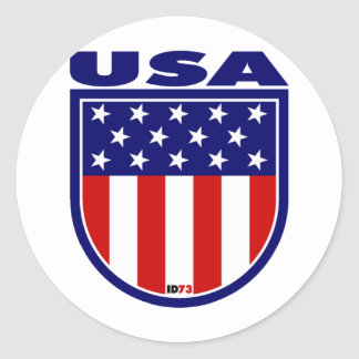 USA ROUND STICKERS