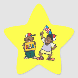 USA. STAR STICKER